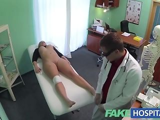 Bony platinum-blonde whips out vag and permits medic to boink crimson pornvideo