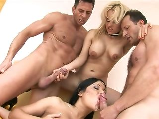Man gravy butted black-haired plus phat jugged ash-blonde are pleasing 4 equally nail freesex
