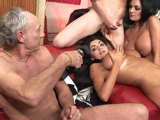 Elderly crank And His caitiff public schoolmate Have joy With Italian bi-otches porn tube