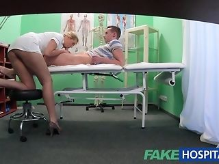 Crony catches a plush be fond of to internal cumshot her within reach faux medical center best sex