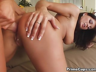 Enticing breasty Czech Kate Jones having nice anal sex