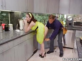 Housewife likes these duo Dark-Hued Penises