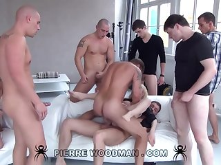 Youthfull Russian Immoral Gets Group-Fucked By Eight Wild Pervs