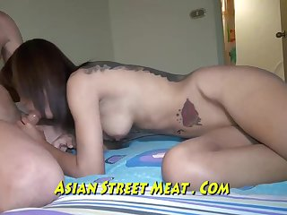 Slender Chinese stunner is getting pummeled in the bum, and luving every unsullied 2nd of it