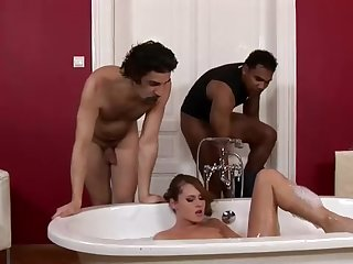 Crazy honey is having an bi-racial three way wide their way beau added to his fantastic, ebony subsidiary