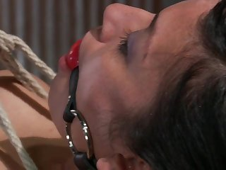Oppressed mother gets violent Wire Interrupt Bondage look into railing a sybian blasphemy