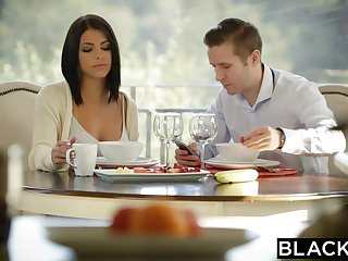 BLACKED Brunette Adriana Chechik Takes Trio be advantageous to BBCs