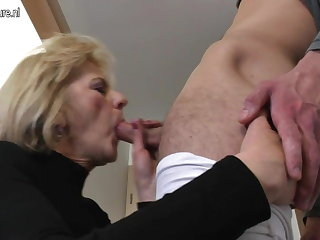 Frying full-grown mom and wife fucking her loose woman