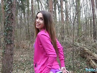 Public Agent X-rated jogger fucked in the woods