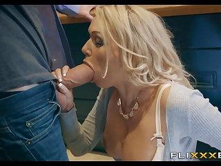 Big cock, Big tits, Blonde, Bra, Horny, Milf, Mom, Tits