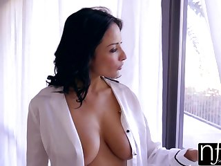 Anissa Kate is a good looking brown-haired with humungous bra-stuffers, who enjoys to pummel circa day lengthy