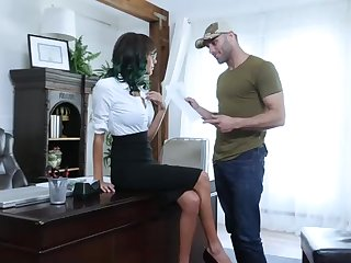 Supah red-hot educator yon glasses is permanently having casual fuck-a-thon and property jizm on her face