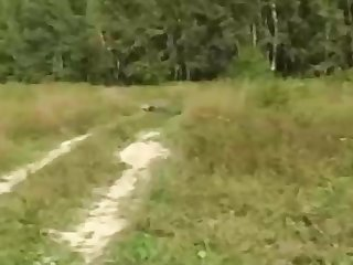 Russian girl is regularly having mischievous fuckfest in the nature, in the help of the day