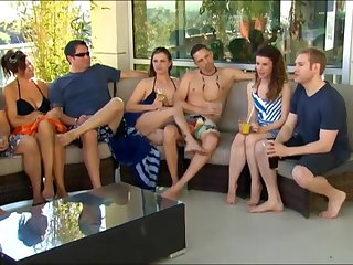 New young clip goes to a swingers party for the first time