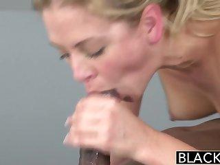 BLACKED Hot Blonde Cherie Deville Takes Big Black Blarney