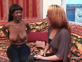 Casting busty french balck steadfast anal fucked and jizzed