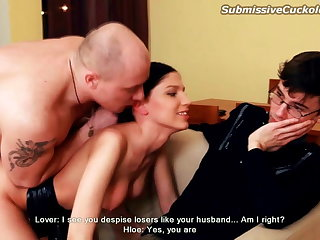 Hot wife fucked winning be expeditious for skimp