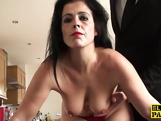 Mature sub assfucked waiting for red finance and ruined