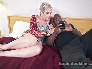 Busty Granny at hand Creampie Video