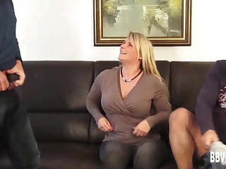 Dominate german milf takes two cocks