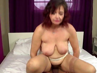 Unrestricted mature mom takes young cock buy hairy vagina